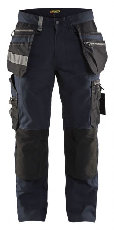 "CLEARANCE Blaklader 1590 Craftsman Trousers with Stretch (Dark Navy/Black) SIZE D100 37""W 29""L"
